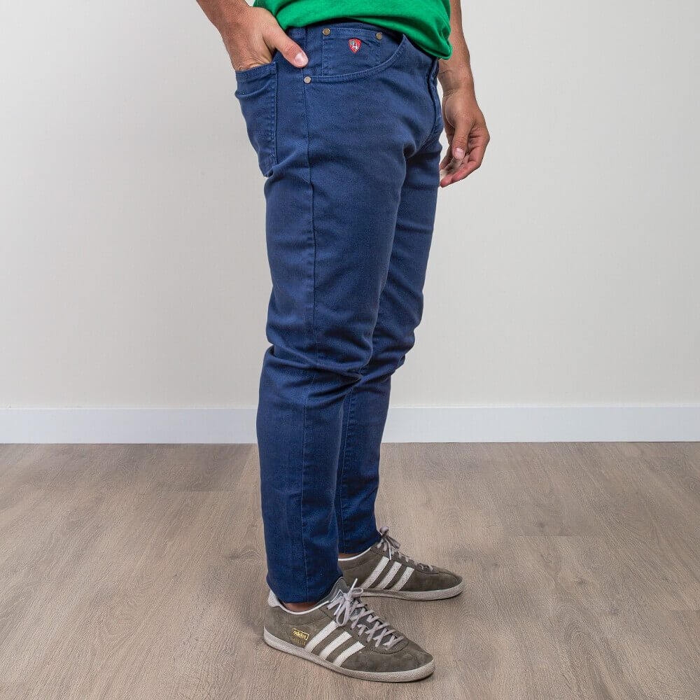 5 bolsillos azul